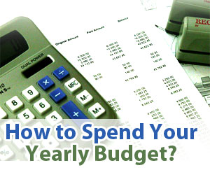 how to spend your yearly budget