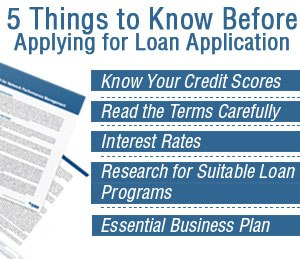 things to know before applying for a loan application