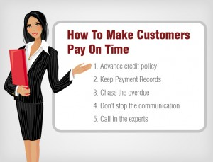 how to make customers pay on time